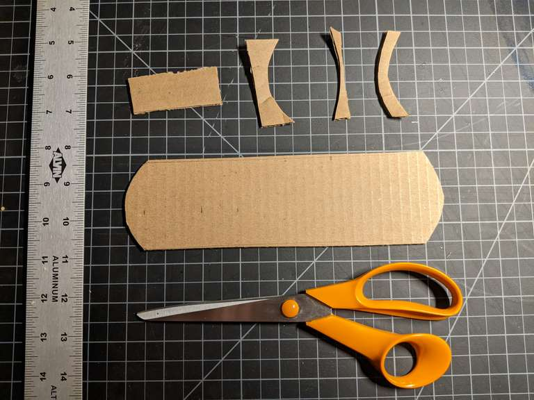 Cut out a rough shape based on my tube width and the vertical coverage I wanted.